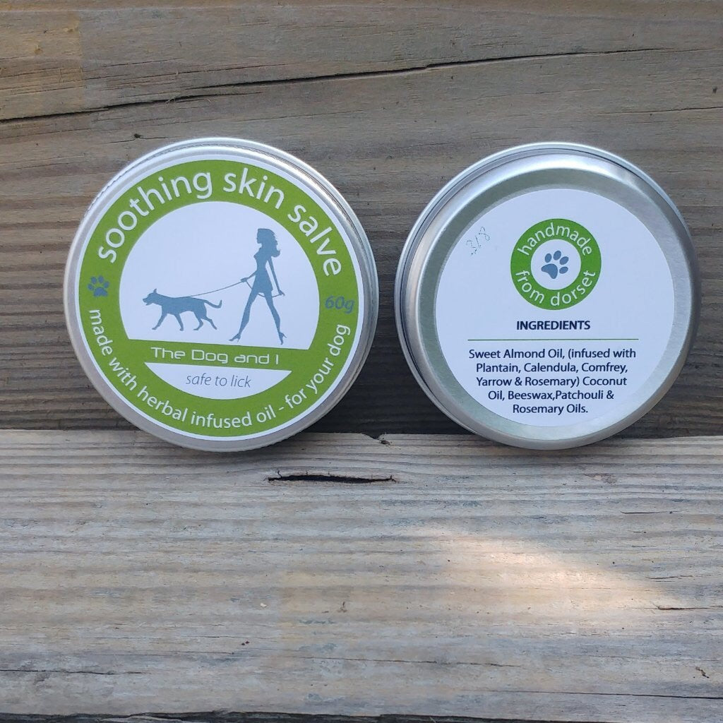 Soothing Skin Salve Front and Back Packaging