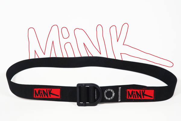 "MiNK x ""U-Belt"" [Black/Red]"
