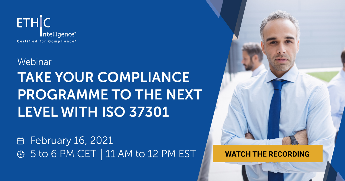 Take your compliance programme to the next level with ISO 37301 webinar