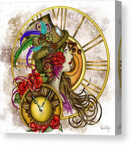 Steampunk - Time Lady - Leinwandbild