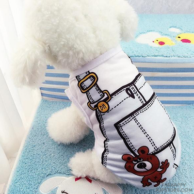 Dungarees Design Dog T-Shirt (Version 2)
