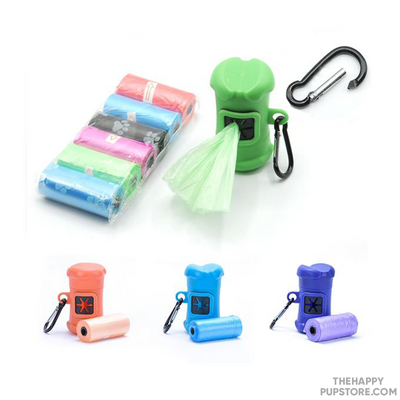 Doggy Bone Disposable Bag Holders With Clip
