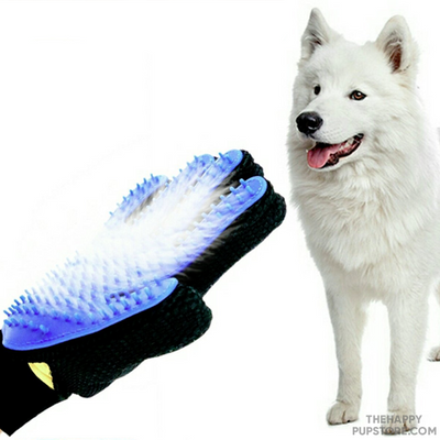 Rubber Dog Grooming Hand Glove Brush