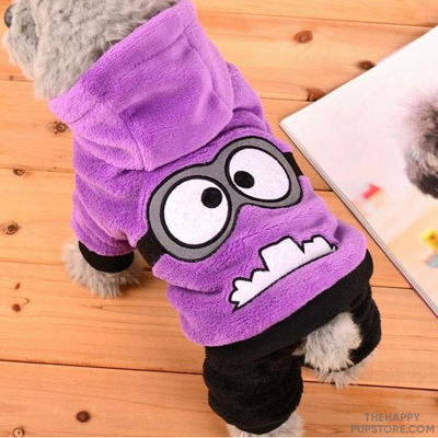 Purple Monster Design Dog Costume Outfit