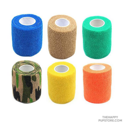 Set of 6 Patterned Dog Bandages