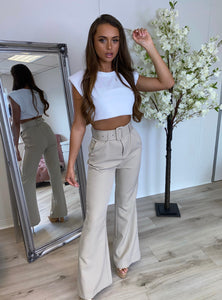 Tailored Belle Trousers Beige
