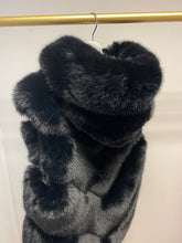 Load image into Gallery viewer, Premium Faux Fur Hooded Gilet Black