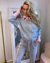 Load image into Gallery viewer, Grey/Pink Two Piece Tracksuit