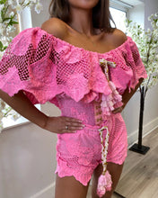 Load image into Gallery viewer, LUXE Bardot Lace Two Piece Pink
