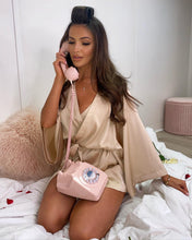 Load image into Gallery viewer, Luxury Satin Nightwear Set Champagne
