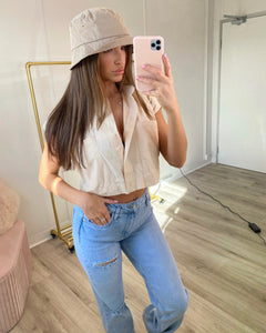 Cropped Shirt Cream