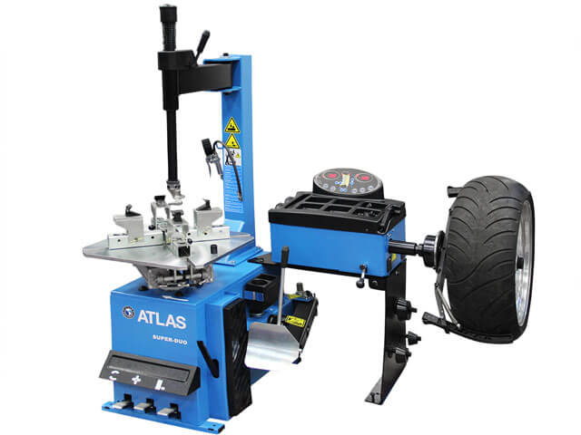Atlas® Super-Duo - MC/ATV Tire Changer & Wheel Balancer All-In-One on