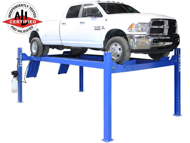 Atlas® Apex 14 ALI Certified Commercial Grade max lift capacity 14,000 Lb   4 Post vehicle Lift built to commercial grade standards