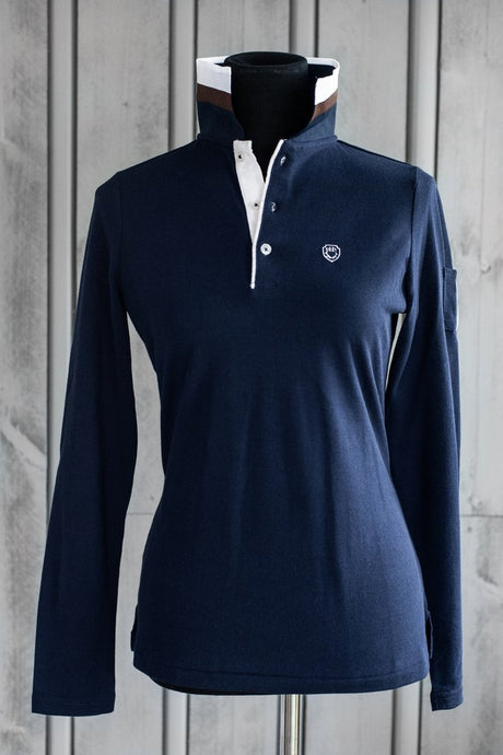 DHRW Long Sleeve Polo - Navy
