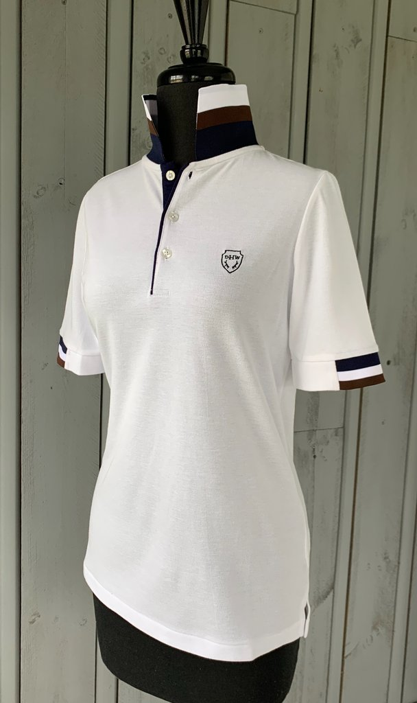 DHRW Short Sleeve Polo - White