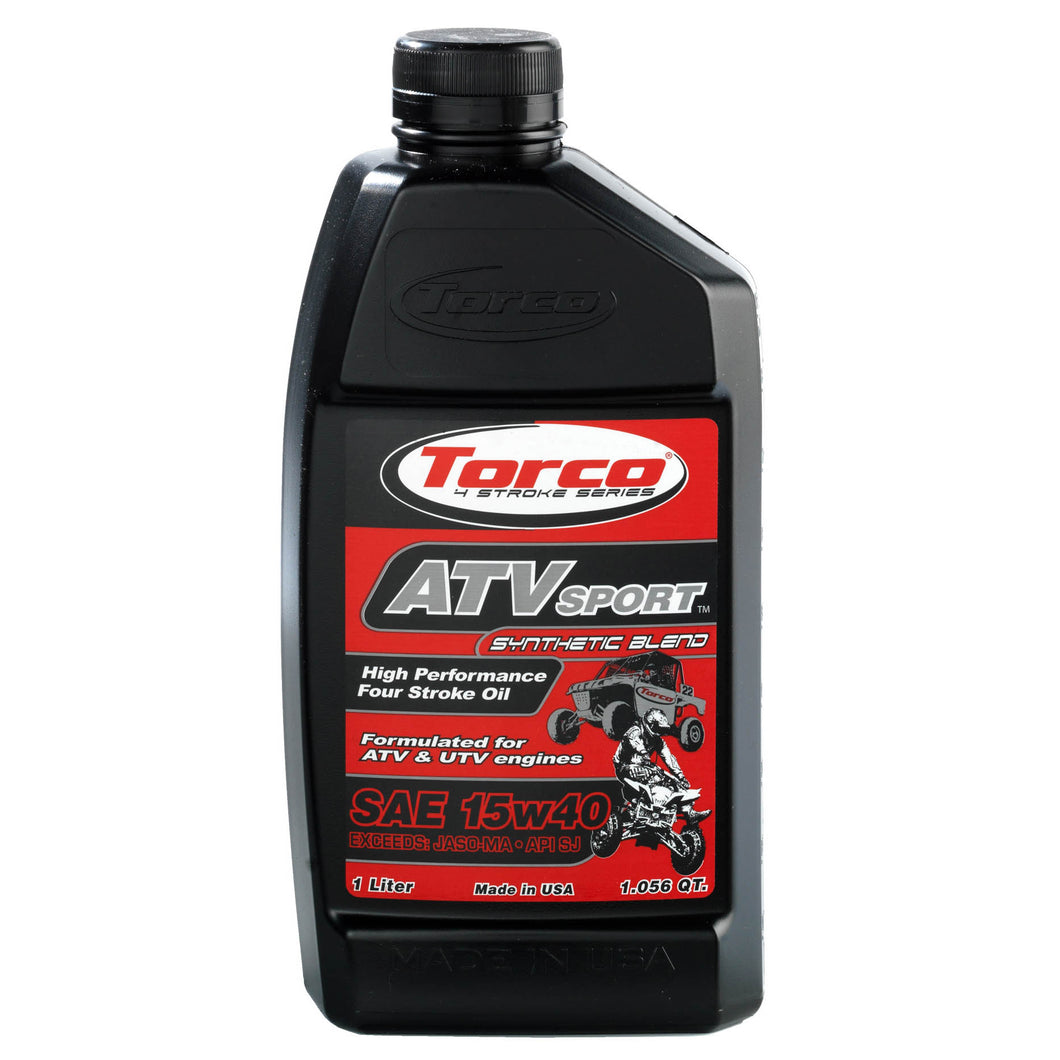Torco ATV and UTV 4 Stroke Racing oil 15w40