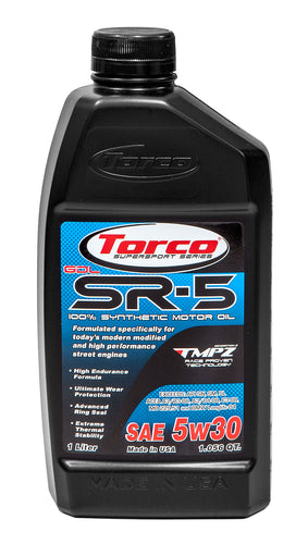 5w30 Torco SR-5 GDL Synthetic High Performance Oils