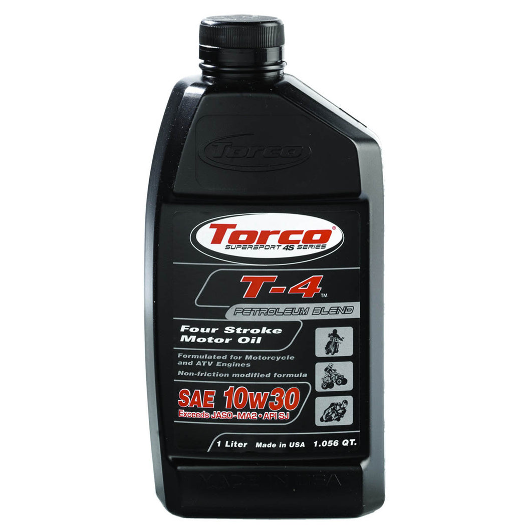 10w30 Torco T-4 Mineral Non-friction modifiers Motorcycle Oil