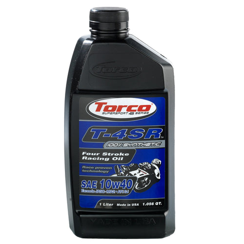 10w40 Torco T-4SR Synthetic Racing Motorcycle Oil
