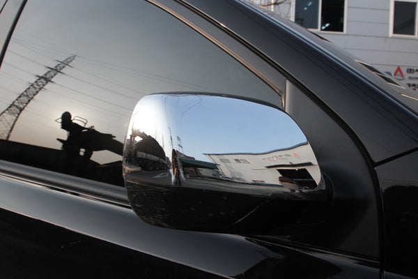Auto Clover Chrome Wing Mirror Cover Trim Set for Kia Sedona 2006 - 2014