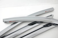 Auto Clover Chrome Wind Deflectors for Hyundai Santa Fe 2001 - 2006 (4 pieces)