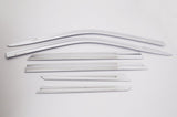 Auto Clover Chrome Wind Deflectors Set for Ssangyong Korando 2019+ (6 pieces)