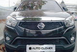 Auto Clover Chrome Bonnet Guard Protector for Ssangyong Korando C 2014 - 2016