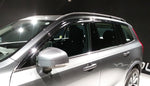 Auto Clover Chrome Wind Deflectors Set for Volvo XC90 2015+ (6 pieces)