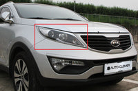 Auto Clover Chrome Headlight Surround Trim Set for Kia Sportage 2010 - 2015
