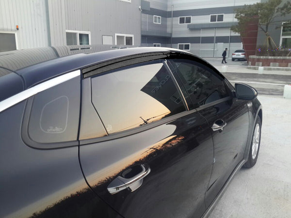 Auto Clover Wind Deflectors Set for Kia Optima 2016+ (4 pieces)