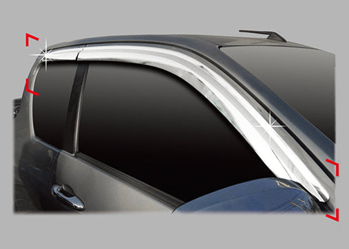 Auto Clover Chrome Wind Deflectors Set for Toyota Hilux 2016+ Extra Cab (4 pcs)