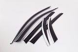 Auto Clover Luxury Wind Deflectors Set for Kia Sorento 2015 - 2020 (6 pieces)