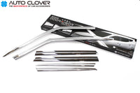 Auto Clover Chrome Wind Deflectors for Land Rover Discovery Sport 2014+ (6 pcs)