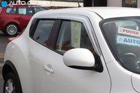 Auto Clover Chrome Wind Deflectors Set for Nissan Juke 2010 - 2019 (4 pieces)