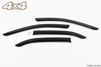 Auto Clover Wind Deflectors Set for Kia Rio 2005 - 2011 (4 pieces)