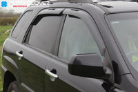 Auto Clover Wind Deflectors Set for Kia Sportage 2005 - 2010 (4 pieces)