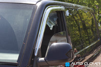 Auto Clover Chrome Wind Deflectors for Volkswagen Transporter T5 / T6 (2 pieces)