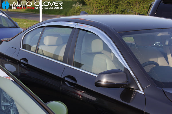 Auto Clover Chrome Wind Deflectors for BMW 5 Series F10 2010 - 2016 (4 pcs)