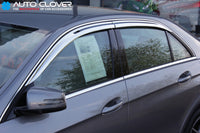 Auto Clover Chrome Wind Deflectors for Mercedes E Class W212 2009 - 2016 (4 pcs)