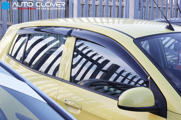 Auto Clover Wind Deflectors Set for Kia Picanto 2004 - 2011 (4 pieces)