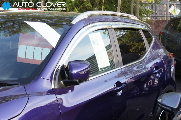 Auto Clover Chrome Wind Deflectors Set for Nissan Qashqai 2014+ (6 pieces)
