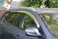 Auto Clover Chrome Wind Deflectors Set for Hyundai IX35 2010 - 2015 (4 pieces)