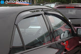 Auto Clover Wind Deflectors Set for Kia Picanto 2012 - 2016  (4 pieces)