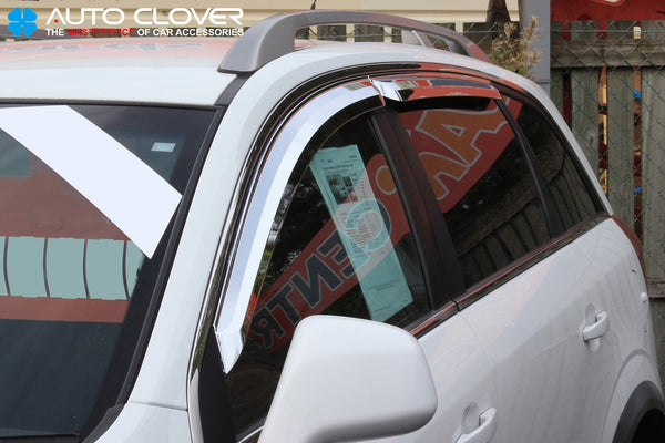 Auto Clover Chrome Wind Deflectors Set for Vauxhall Opel Antara 2007+ (4 pieces)