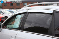 Auto Clover Chrome Wind Deflectors Set for Chevrolet Captiva 2007+ (4 pieces)
