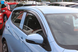 Auto Clover Wind Deflectors Set for Opel Karl (4 pieces)