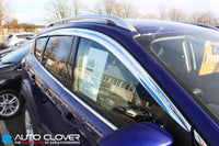 Auto Clover Chrome Wind Deflectors Set for Ford Kuga 2012 - 2019 (8 pieces)
