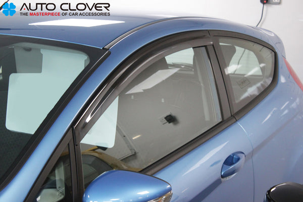 Auto Clover Wind Deflectors Set for Ford Fiesta MK7 2009 - 2017 3 Door (2 piece)