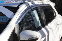 Auto Clover Chrome Wind Deflectors Set for Ford Ecosport  (4 pieces)