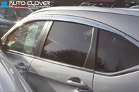 Auto Clover Chrome Wind Deflectors Set for Honda CRV 2012 - 2017 (6 pieces)